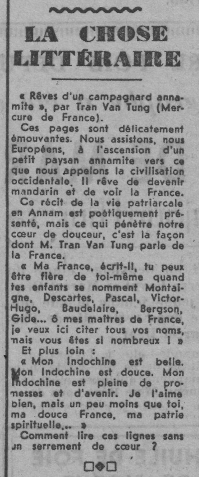 TranVanTung_coupure Paris-soir 1941
